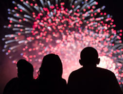 President Barack Obama, First Lady Michelle Obama, left, and Malia Obama, center, watch the Fourth of July fireworks from the roof of the White House, July 4, 2014.  (Official White House Photo by Pete Souza)