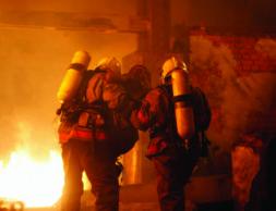 Rescuers help accident victim 5