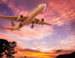 siluety-derevia-peizazh-zarevo-nebo-polet-vzlet-samolet-pass