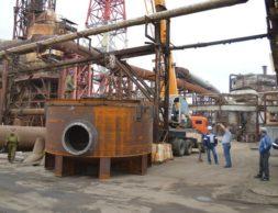 31.05.2017 Поставка первой части аппарата на завод